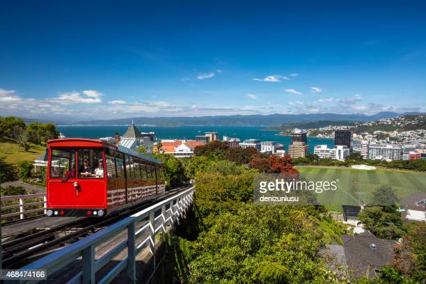 wellington cable car - wellington new zealand stock photos and pictures