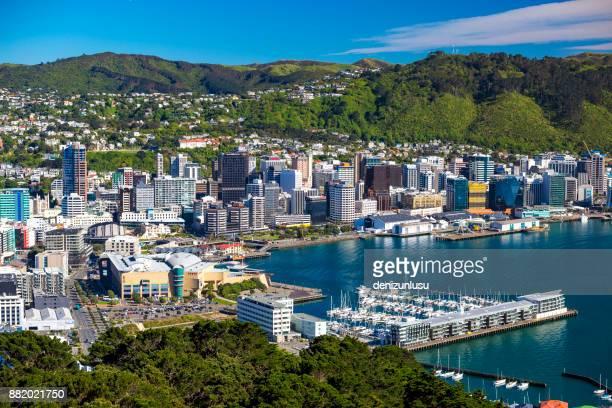ウェリントン市内中心部 - ニュージーランド首都 ウェリントン ストックフォトと画像