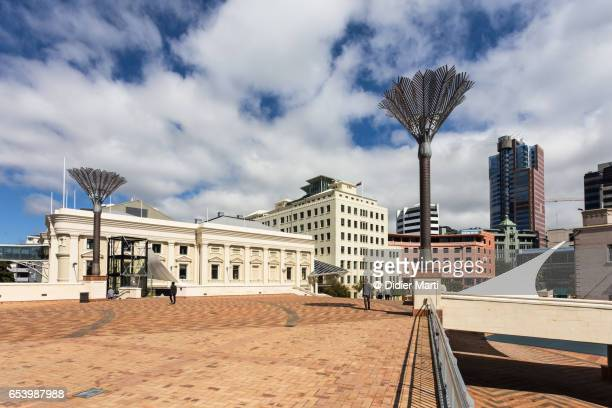 wellington city hall historic building in new zealand capital city. - didier marti stock photos and pictures
