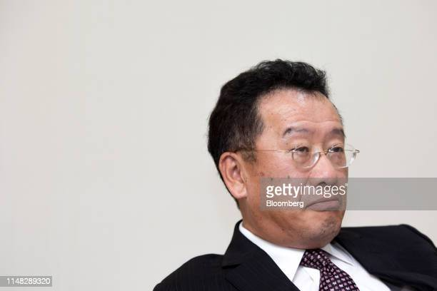 Wellington Koo, chairman of Taiwan's Financial Supervisory Commission, listens during an interview in Taipei, Taiwan, on Monday, June 3, 2019....