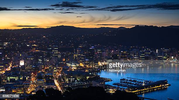 Wellington Lit Up on Winter Evening