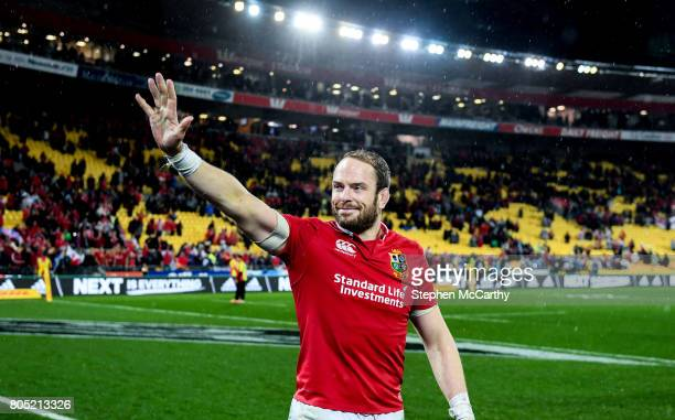 Wellington New Zealand 1 July 2017 Alun Wyn Jones of the British Irish Lions following the Second Test match between New Zealand All Blacks and the...