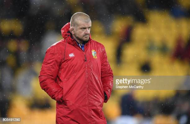 Wellington , New Zealand - 1 July 2017; British & Irish Lions scrum coach Graham Rowntree during the Second Test match between New Zealand All Blacks...