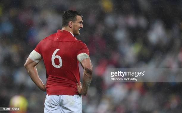 Wellington , New Zealand - 1 July 2017; Sam Warburton of the British & Irish Lions during the Second Test match between New Zealand All Blacks and...