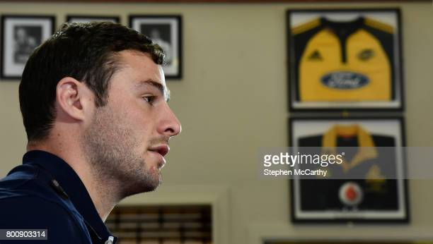 Wellington New Zealand 26 June 2017 Robbie Henshaw of the British Irish Lions during a press conference at Jerry Collins Stadium in Porirua New...