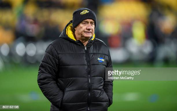 Wellington New Zealand 27 June 2017 Hurricanes head coach Chris Boyd during the match between Hurricanes and the British Irish Lions at Westpac...