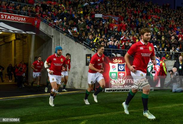 Wellington New Zealand 27 June 2017 Iain Henderson of the British Irish Lions during the match between Hurricanes and the British Irish Lions at...