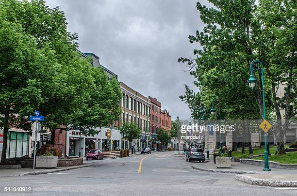 Wellington North Street in Sherbrooke an der Ecke Frontenac