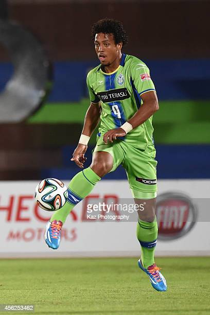 Wellington of Shonan Bellmare keeps the ball during the J League second division match between FC Gifu and Shonan Bellmare at BMW Stadium Hiratsuka...