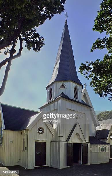 Wellington, Old St. Paul's Church. Die 1866 ganz aus Holz errichtete Kirche konnte 1966 vor dem drohenden Abriss gerettet werden