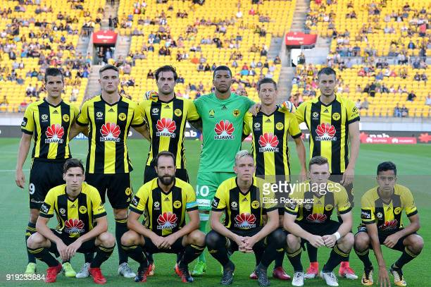 Wellington Phoenix team photo during the round 20 ALeague match between the Wellington Phoenix and the Perth Glory at Westpac Stadium on February 17...