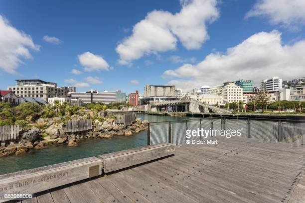Wellington waterfront, New Zealand capital city.