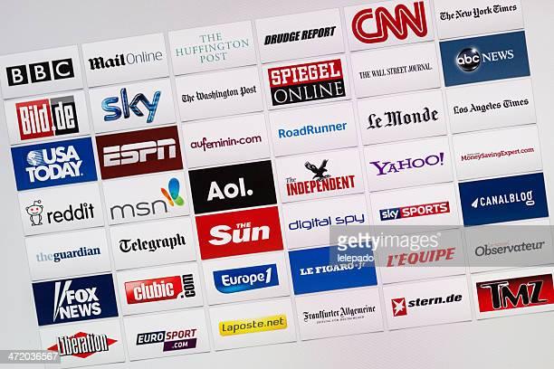 Well-Known World Internet Communication Brand Logotypes