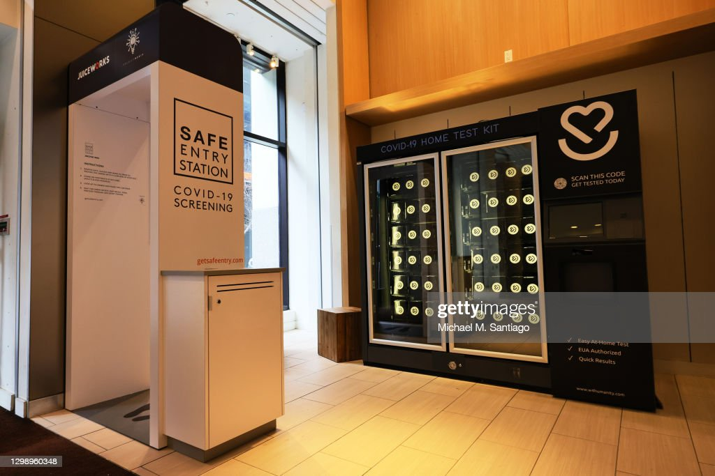 Covid-19 Test Kits Sold Through Vending Machine In New York : News Photo