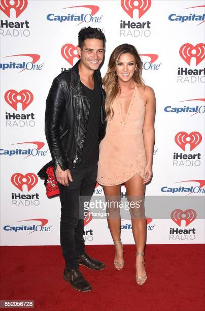 Wells Adams and Becca Tilley from the show 'The Bachelor' attend the 2017 iHeartRadio Music Festival at TMobile Arena on September 22 2017 in Las...
