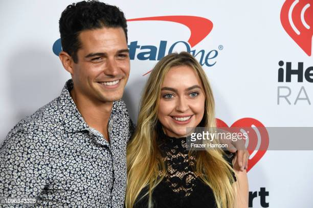 Wells Adams and Brandi Cyrus attend the iHeartRadio Podcast Awards Presented By Capital One at iHeartRadio Theater on January 18 2019 in Burbank...