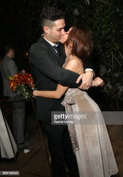 Wells Adams and Sarah Hyland attend Entertainment Weekly's Screen Actors Guild Award Nominees Celebration sponsored by Maybelline New York at Chateau...