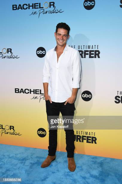 """Wells Adams attends ABC's """"Bachelor In Paradise"""" And """"The Ultimate Surfer"""" Premiere at Fairmont Miramar - Hotel & Bungalows on August 12, 2021 in..."""