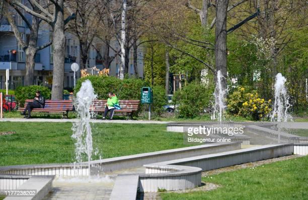 Wells, Bavarian place, beauty's mountain, Berlin, Germany, Brunnen, Bayerischer Platz, Schoneberg, Germany.