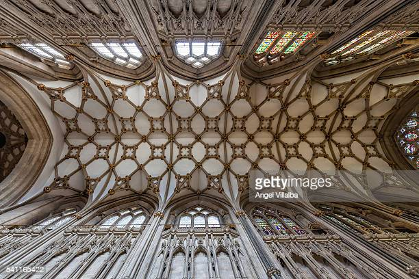 Wells Cathedral, ribbed vault in the header area of the nave