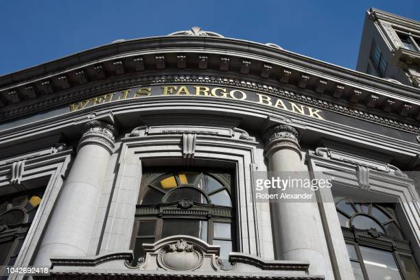 Wells Fargo Bank in San Francisco California located in the historic 1910 Union Trust Company building on Market Street