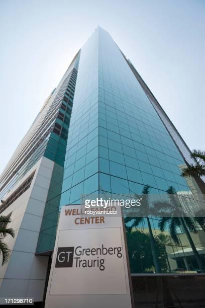 ウェルスファーゴセンター・グリーンバーグトローリッグマイアミの金融街 - 国際法 ストックフォトと画像