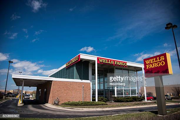 A Wells Fargo Co bank branch stands in Niles Illinois US on Monday April 11 2016 Wells Fargo Co is scheduled to release earnings figures on April 14...