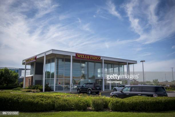 A Wells Fargo Co bank branch stands in Niles Illinois US on Tuesday July 10 2018 Wells Fargo Co is scheduled to release earnings figures on July 13...