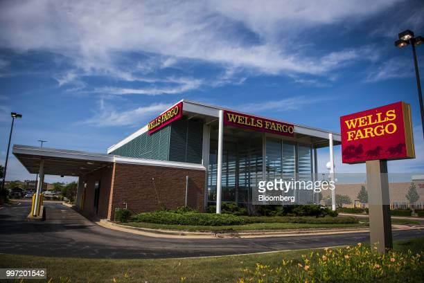 Wells Fargo Co bank branch stands in Niles Illinois US on Tuesday July 10 2018 Wells Fargo Co is scheduled to release earnings figures on July 13...