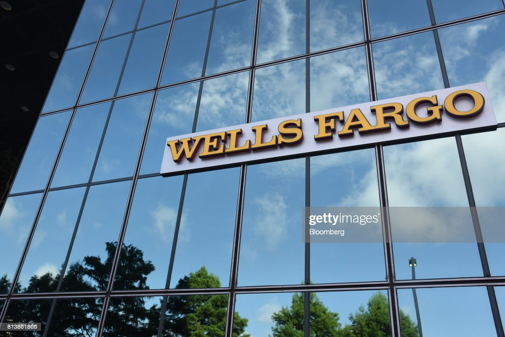 Wells Fargo & Co  signage is displayed on the exterior of a