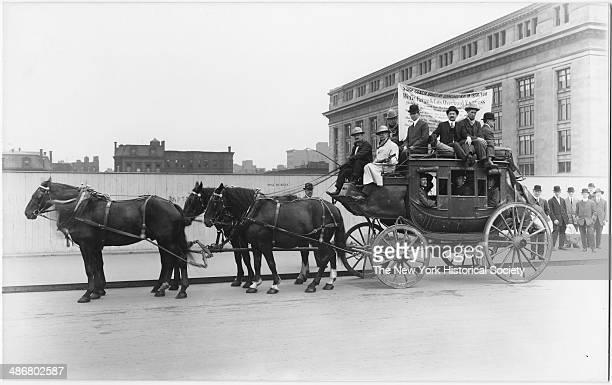 Wells Fargo coach, New York City, New York, New York, 1895.
