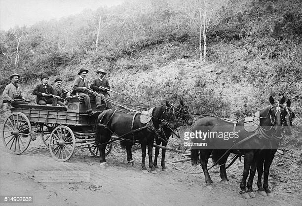Wells Fargo Deadwood treasure wagon carrying $350000 in gold bullion Undated photograph