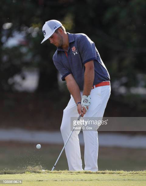 Wells Padgett of the Auburn Tigers chips on the 13th green during day three of the 2018 East Lake Cup at East Lake Golf Club on October 31 2018 in...