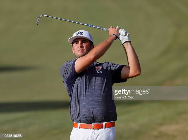Wells Padgett of the Auburn Tigers plays a shot on the 13th hole during day three of the 2018 East Lake Cup at East Lake Golf Club on October 31 2018...