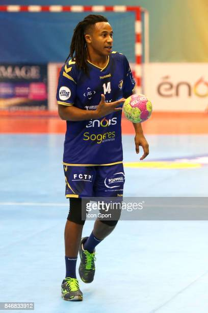 Welsau Bungue of Massy during Lidl Star Ligue match between Massy Essonne Handball and HBC Nantes on September 13 2017 in Massy France