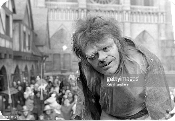 Welsh actor Anthony Hopkins as Quasimodo in the film 'The Hunchback of Notre Dame' aka 'Hunchback' 1982