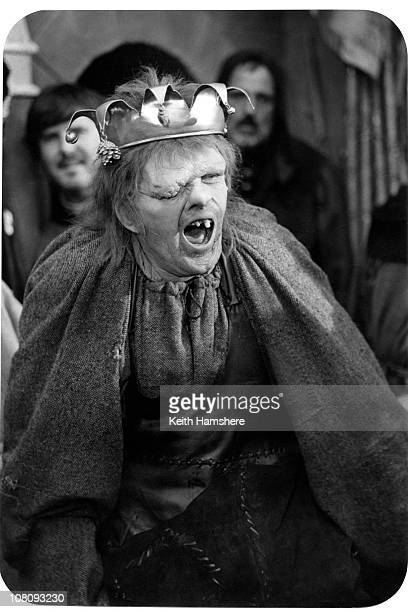 Welsh actor Anthony Hopkins as Quasimodo in the film 'The Hunchback of Notre Dame' aka 'Hunchback' 1982 Here he wears a crown as 'The King of Fools'...