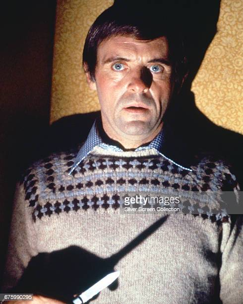 Welsh actor Anthony Hopkins as ventriloquist Corky Withers in the psychological horror film 'Magic' 1978