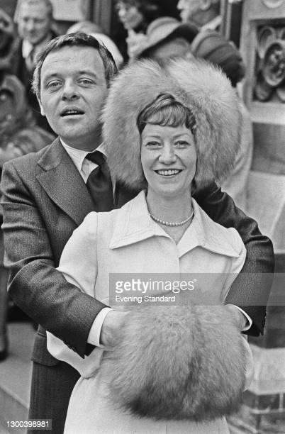 Welsh actor Anthony Hopkins marries Jennifer Lynton at Barnes Methodist Church in London, UK, 13th January 1973.