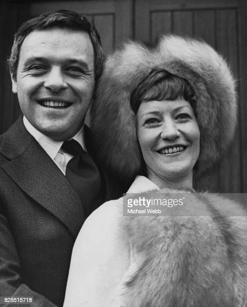 Welsh actor Anthony Hopkins marries Jennifer Lynton secretary to a London film producer at Barnes Methodist Church 13th January 1973