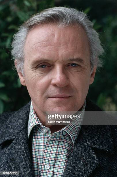 Welsh actor Anthony Hopkins on the set of the Carolco film 'Chaplin' 1992