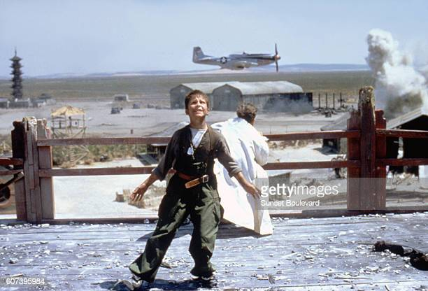 Welsh actor Christian Bale on the set of Empire of the Sun based on the novel by JG Ballard and directed by Steven Spielberg