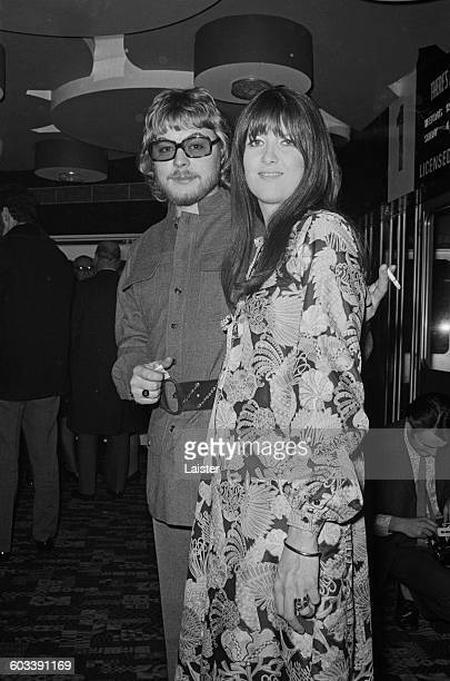 Welsh actor Hywel Bennett and his wife journalist and broadcaster Cathy McGowan at the premiere of the film 'Percy' London UK 11th February 1971