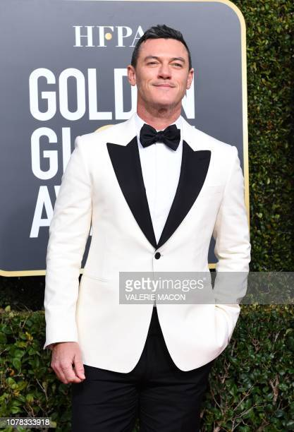 Welsh actor Luke Evans arrives for the 76th annual Golden Globe Awards on January 6 at the Beverly Hilton hotel in Beverly Hills California