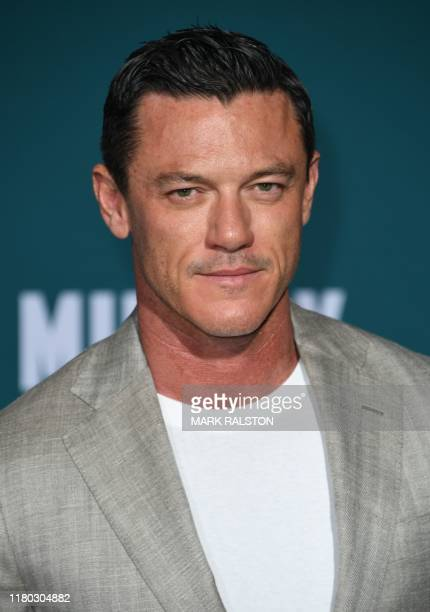 Welsh actor Luke Evans arrives for the premiere of Lionsgates' Midway at the Regency Village Theatre in Westwood California on November 5 2019