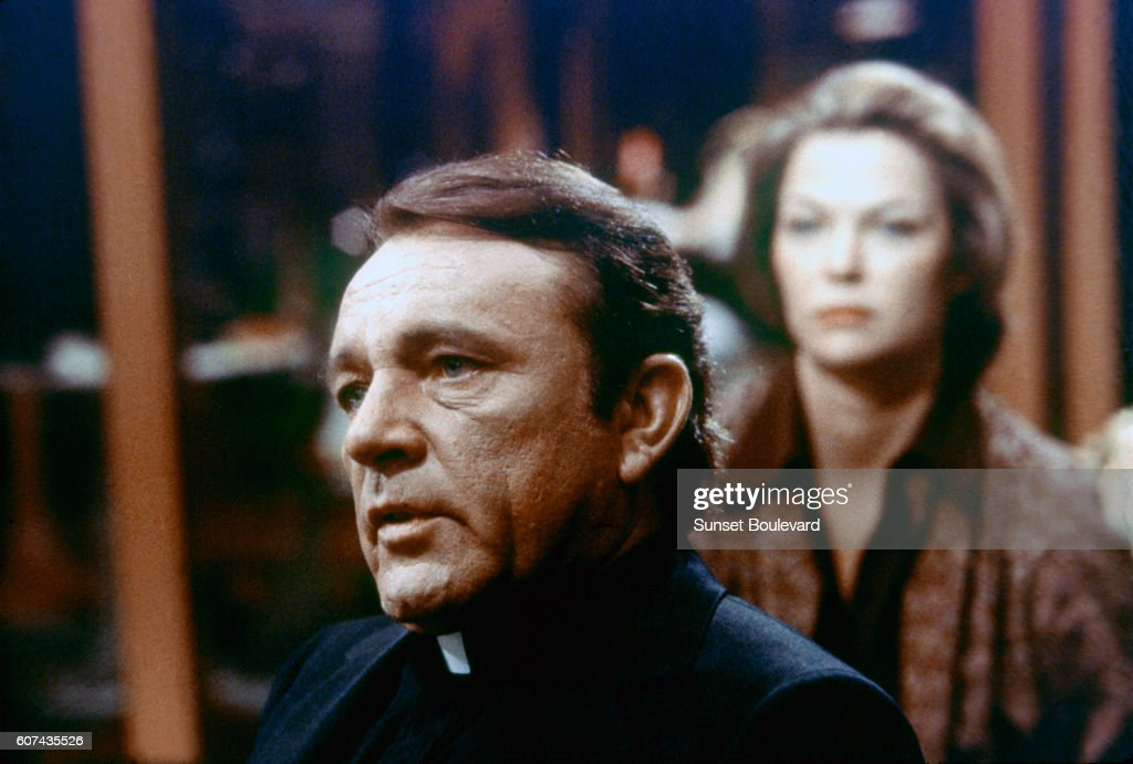 On the set of Exorcist II: The Heretic : News Photo