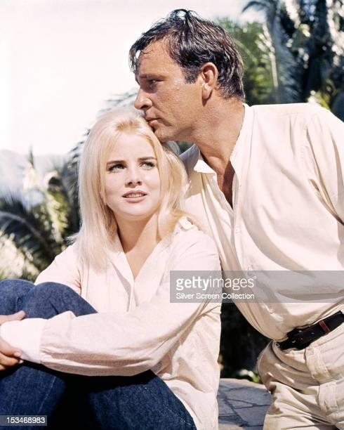 Welsh actor Richard Burton and American actress Sue Lyon in 'The Night of the Iguana' directed by John Huston Mexico 1964