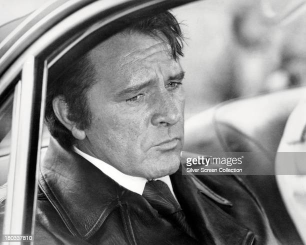 Welsh actor Richard Burton as gangster Vic Dakin in 'Villain' directed by Michael Tuchner 1971