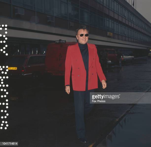 Welsh actor Richard Burton at London Airport, UK, December 1973.