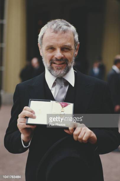Welsh actor Sir Anthony Hopkins receives a CBE at Buckingham Palace in London 3rd November 1987